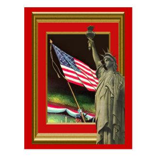 Freiheit und die Flagge Postkarte