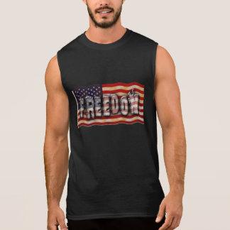 Freiheit USA-amerikanische Flagge Ärmelloses Shirt