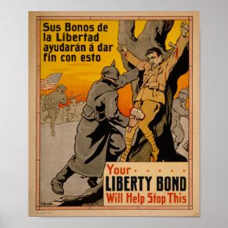 Freiheits-Bindungen der Propaganda-WW1 Poster
