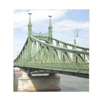 Freiheits-Brücke, Budapest, Ungarn Notizblock