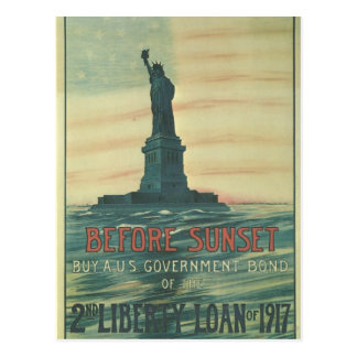 Freiheits-Darlehens-Freiheitsstatue 1917 Postkarte