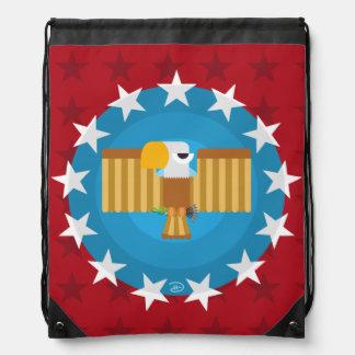 Freiheits-Eagle (rot) - Drawstring-Rucksack Turnbeutel