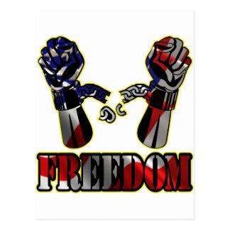 Freiheits-Flagge gebrochene Ketten Postkarte