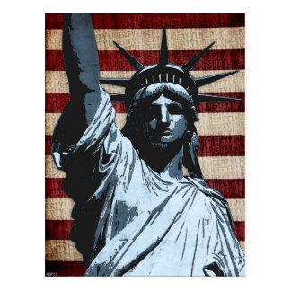 Freiheits-Flagge Postkarte