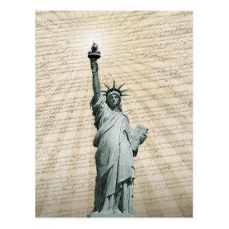 Freiheits-Lieben die Konstitution Postkarte