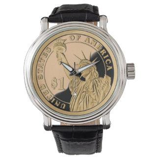 Freiheits-Münze Armbanduhr