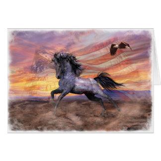 """Freiheits-Mustang 5"""" x7"""" Karte, weiße Umschläge Karte"""