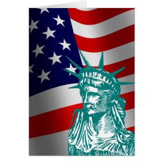 Freiheits-neue amerikanische Bürger-Karte Grußkarte