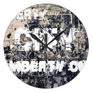Freiheits-Stadt-Graffiti-Uhr Große Wanduhr