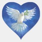 Freiheits-Taube, Weltfrieden Herz-Aufkleber