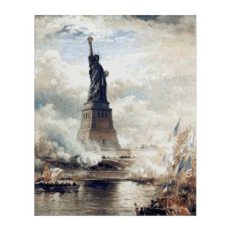 Freiheitsstatue 1886 vorstellend acryldruck