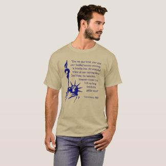 Freiheitsstatue Aufschrift T-Shirt