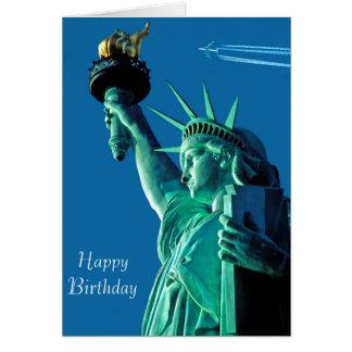Freiheitsstatue Bild für Geburtstag-Grußkarte Grußkarte