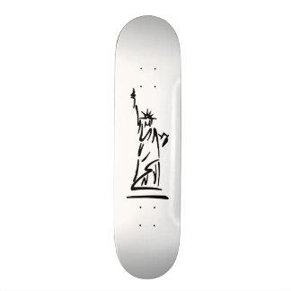 Freiheitsstatue Blau 18,4 Cm Mini Skateboard Deck