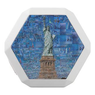 Freiheitsstatue Collage - Freiheitsstatue Kunst Weiße Bluetooth Lautsprecher