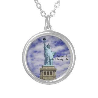 Freiheitsstatue, Ellis Island, New York Versilberte Kette