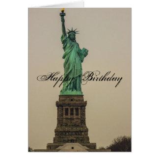 Freiheitsstatue Geburtstag Karte