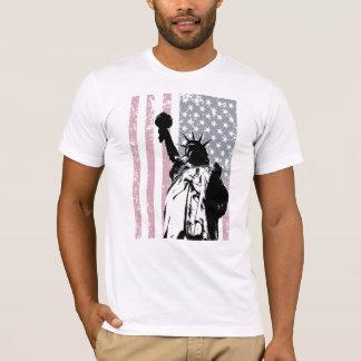 Freiheitsstatue Hintergrund T-Shirt