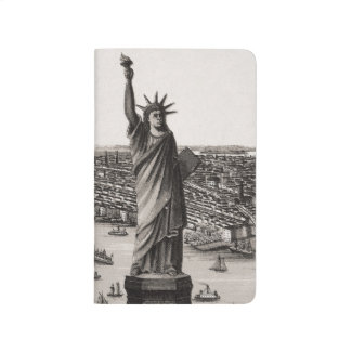Freiheitsstatue in New- Yorkhafen Taschennotizbuch