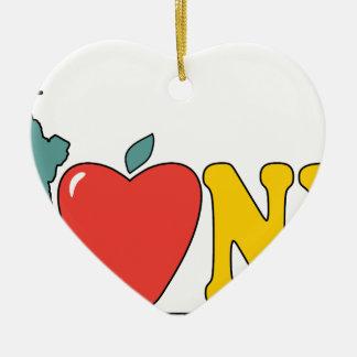 Freiheitsstatue Keramik Herz-Ornament