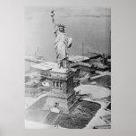 Freiheitsstatue Luftaufnahme 1920 Plakat