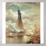 Freiheitsstatue, New York circa 1800's Plakat