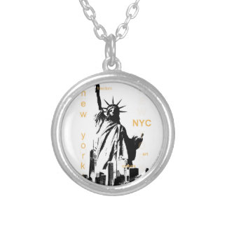 Freiheitsstatue New York City Ny Nyc Versilberte Kette