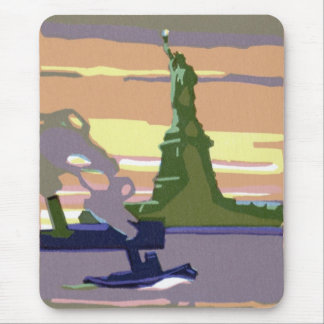 Freiheitsstatue, New York City, Vintage Reise Mousepad