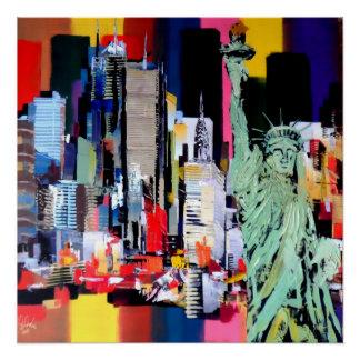 Freiheitsstatue New York Poster