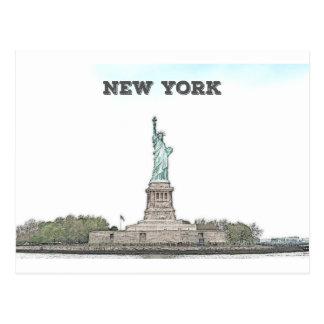 Freiheitsstatue - New York Postkarte