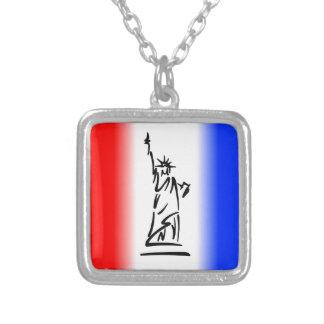 Freiheitsstatue New York Versilberte Kette