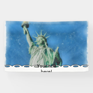 Freiheitsstatue, New- YorkAquarellmalen Banner