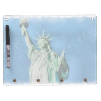 Freiheitsstatue, New- YorkAquarellmalen Trockenlöschtafel Mit Schlüsselanhängern