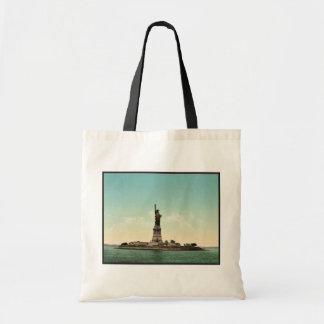 Freiheitsstatue, New- Yorkhafenklassiker Photoch Budget Stoffbeutel