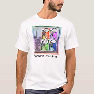 Freiheitsstatue - Presse 2 für spanischen T - T-Shirt