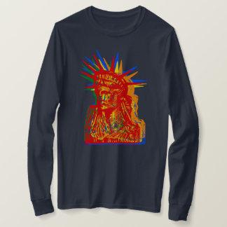 FREIHEITSSTATUE REGENBOGEN-POP-KUNST T-Shirt