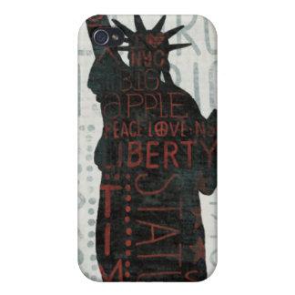 Freiheitsstatue Silhouette iPhone 4 Schutzhülle