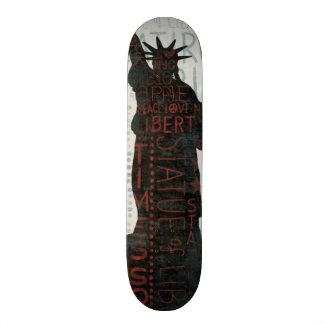 Freiheitsstatue Silhouette Skateboard