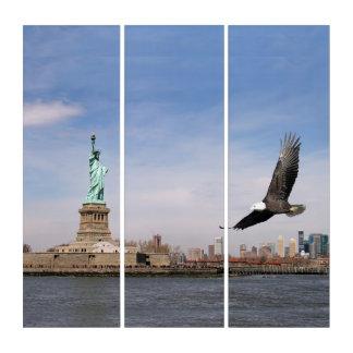 Freiheitsstatue und Eagle Triptychon