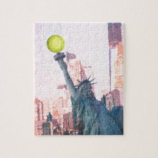 Freiheitsstatue und tennnis Ball Puzzle