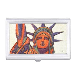 Freiheitsstatue Visitenkarten Etui