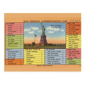 Freiheitsstatue Witz Postkarte