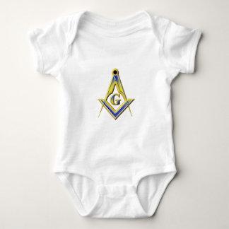 Freimaurer-Quadrat u. Kompassse Baby Strampler