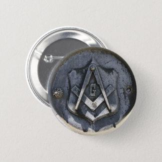 Freimaurer-Symbol-Kunstknopf Runder Button 5,1 Cm
