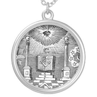 FreimaurerBlockcut Stich Halskette des 19 Jahrhun