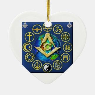 Freimaurerei alle Religionen Keramik Ornament