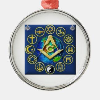 Freimaurerei alle Religionen Silbernes Ornament