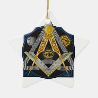 Freimaurerei-Emblem Keramik Ornament