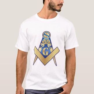 Freimaurerei Zeichendreieck und Kompass T-Shirt