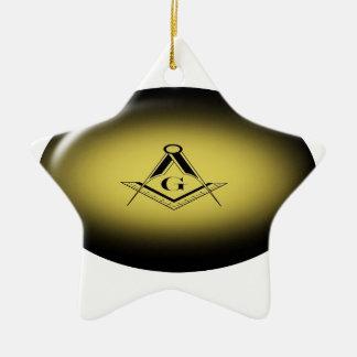 Freimaurerlicht Keramik Ornament
